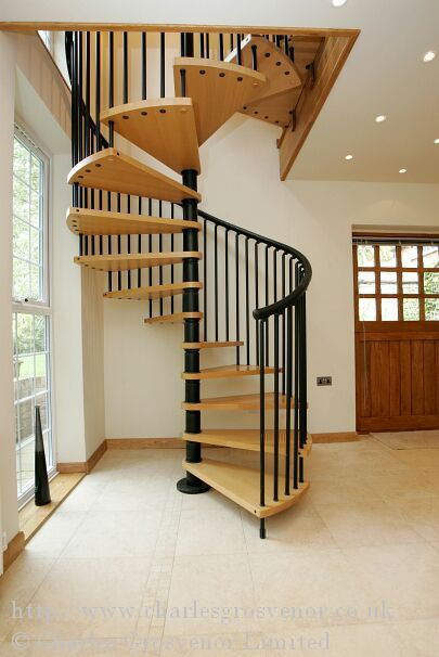 Spiral Staircase Leading To New Loft Conversion
