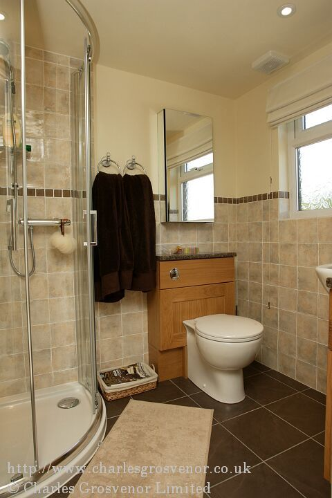 Loft en-suite shower room with dormer window