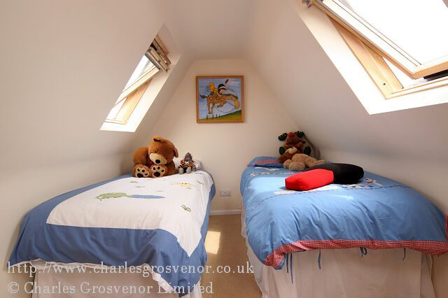 Childrens attic bedroom