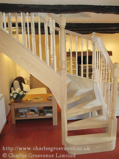 We have designed the staircase to be a feature in the existing room