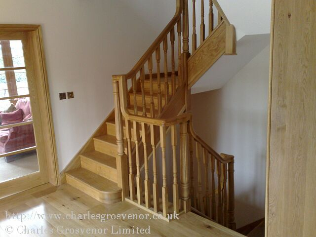 "The spindles were from a standard design but with an extra ""turn"" at the customer's request."