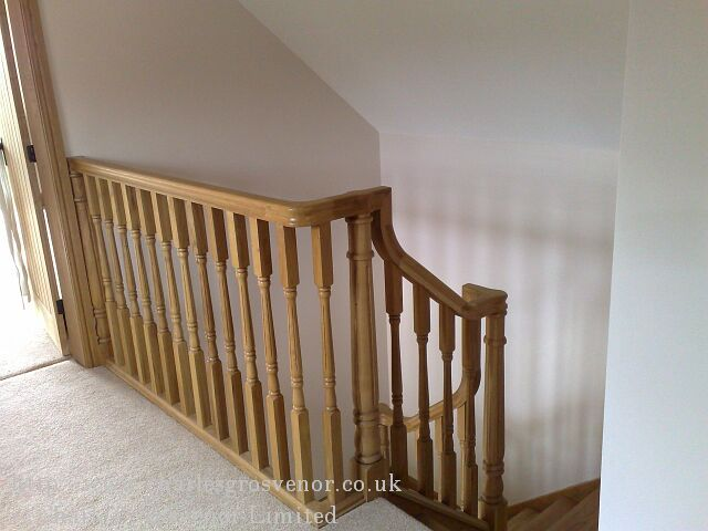 The balustrading makes a perfect finish to the landing area with a half newell fitted to the wall.