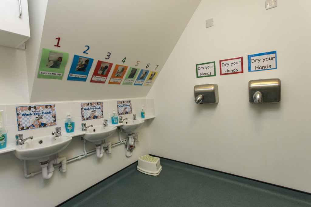 Childrens toilet area created for a nursery