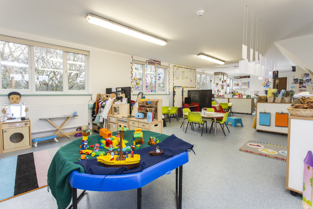 Maximum space for teaching and playing