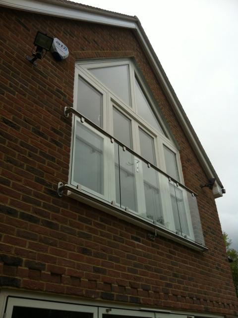 Bespoke oxford glass juliet balconies for Juliet balcony