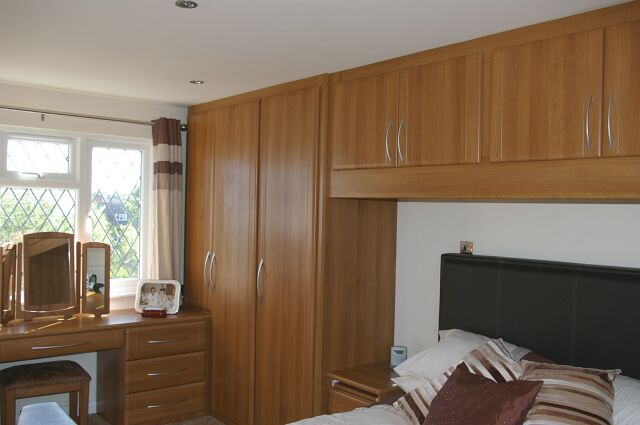 Bespoke fitted wardrobe furniture with dressing table in Newbury
