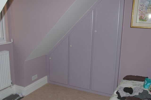 Bespoke angled wardrobe in Slough